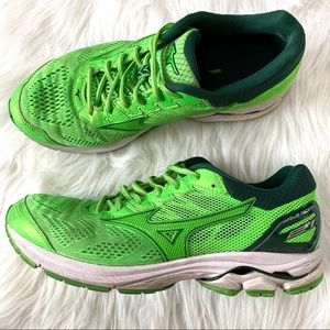 Misuno Wave Rider 21 Lime Green Running Shoes 8.5